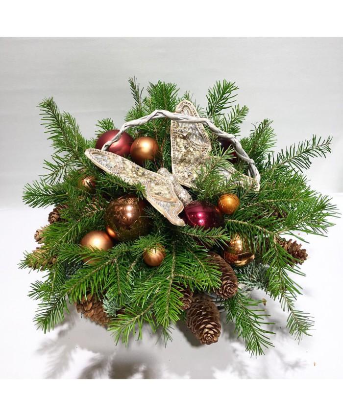 Букет из пихты для нового года, база тюмень авторемонтной