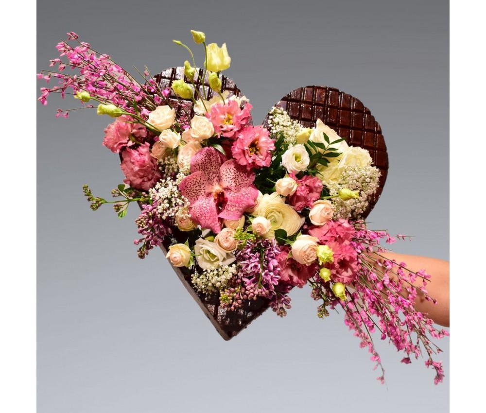 Букет № 252 Шоколадное сердце