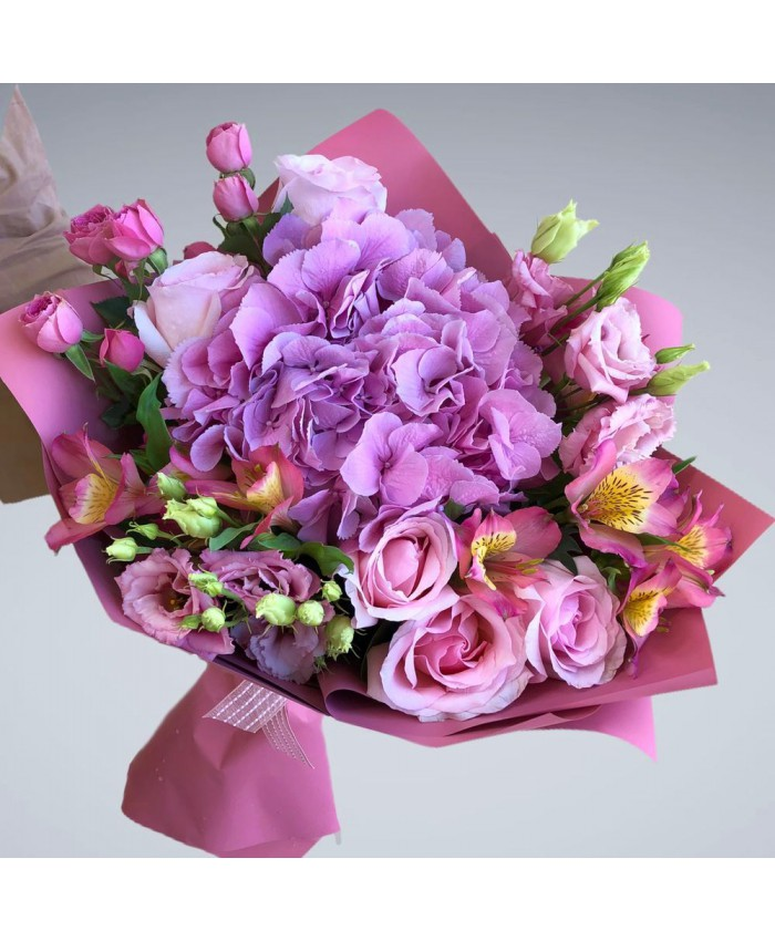 Букет № 133 Сияние розового