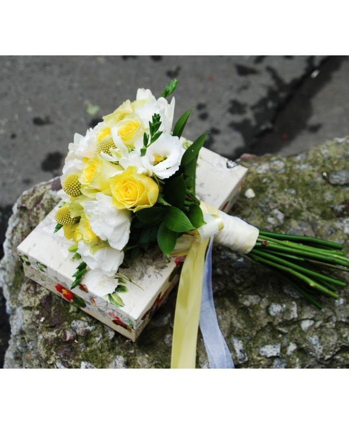 Букет невесты из желтых роз