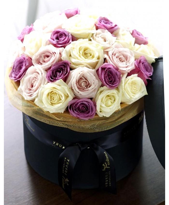 Коробка с 31 розой