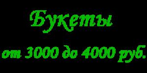 Букеты от 3000 до 4000 рублей