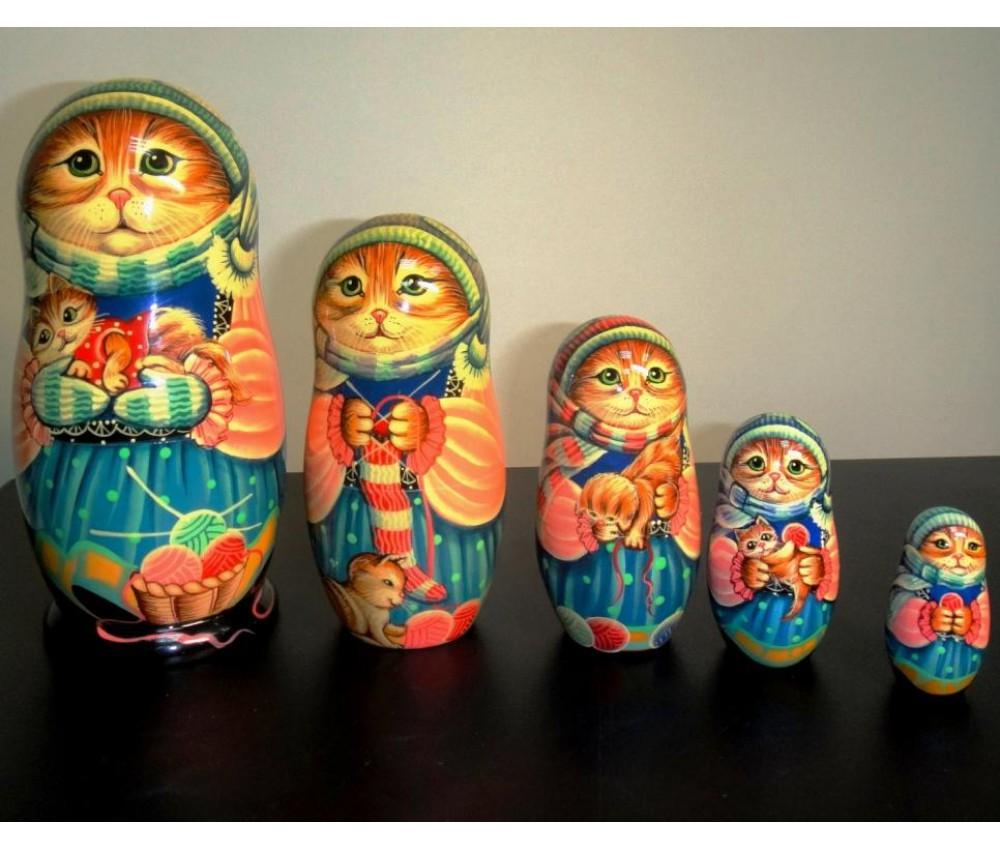 Русские матрешки Коты