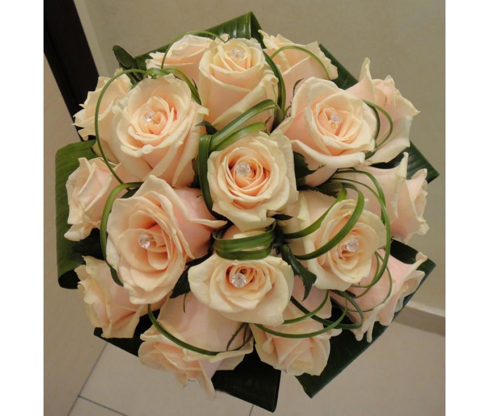 Букет невесты молочной розы