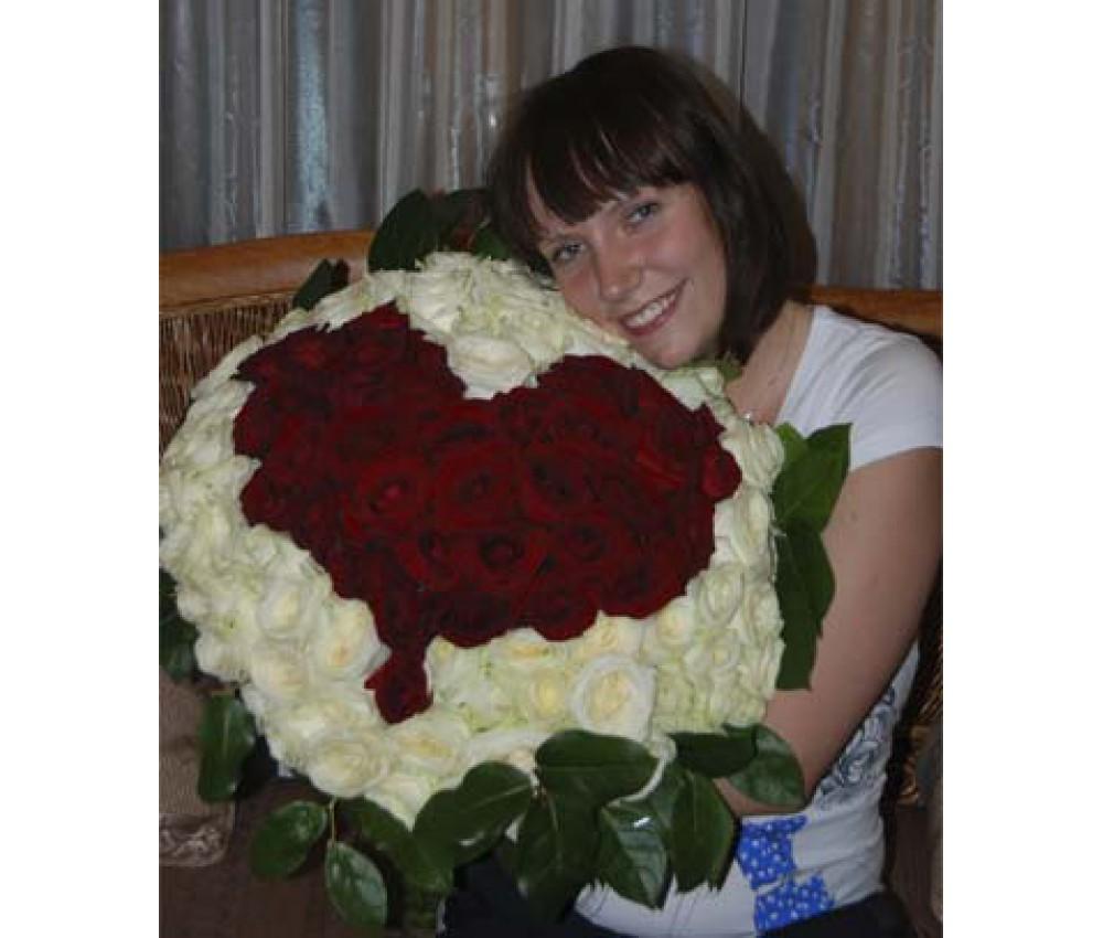 Букет из роз № 104 Сердце