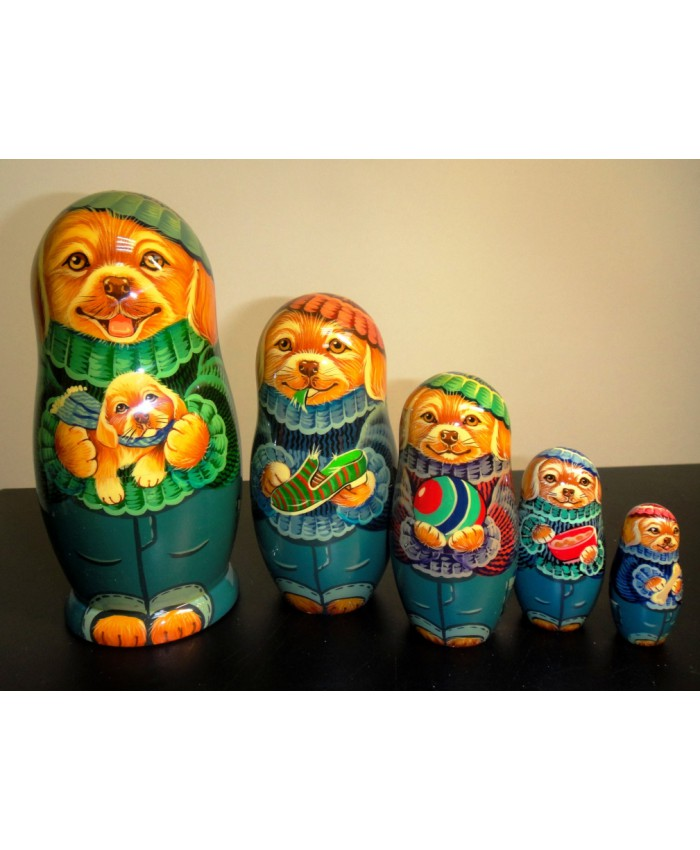 Русские матрешки -собачки