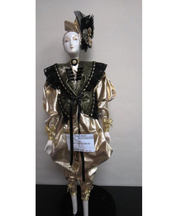 Дама с бантом 50 см интерьерная кукла