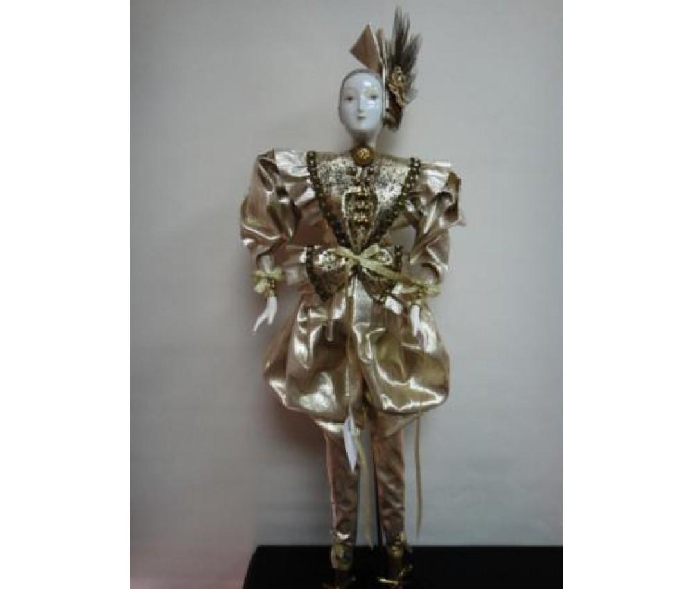 Сувенирная дама с бантом  61 см интерьерная кукла