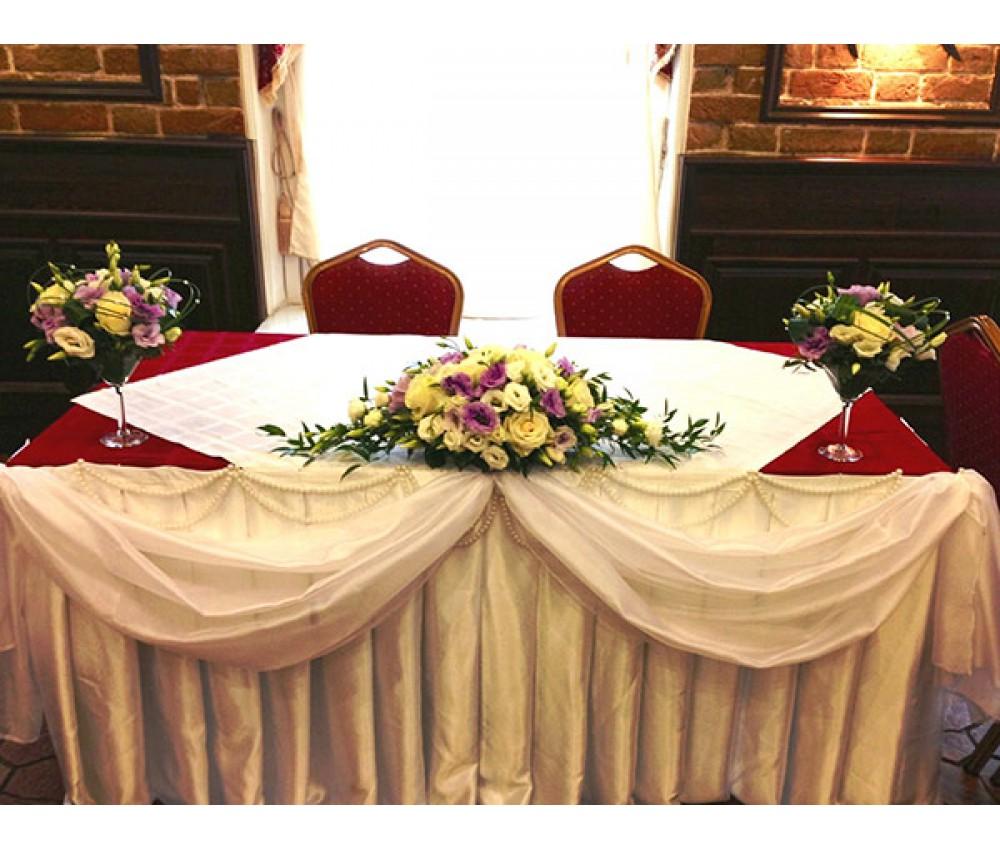Свадьба с эустомой и розой в нежно фиолетовых тонах
