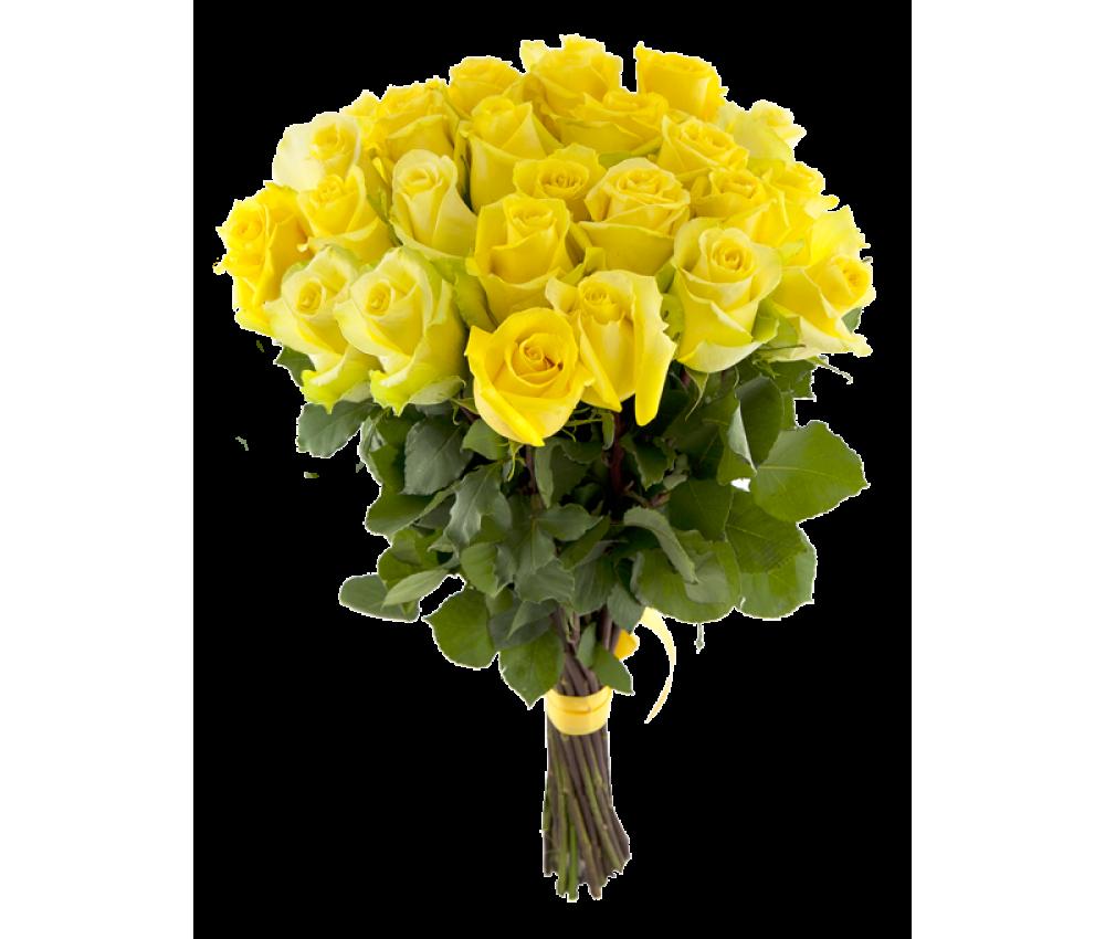 Акция- букет из 25 желтых роз!