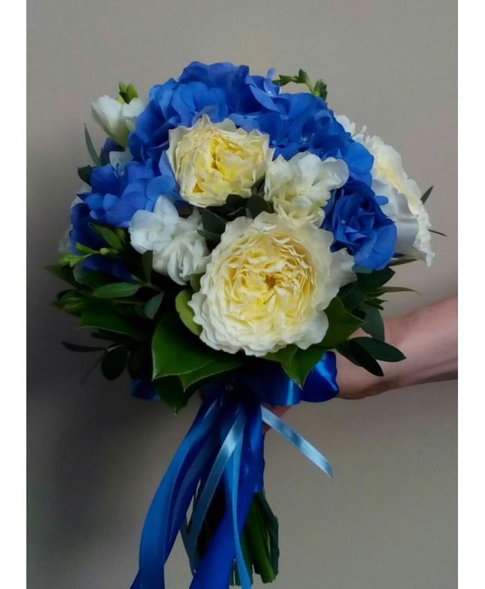 Букет невесты из пионовидной розы  -David Austin(patience)